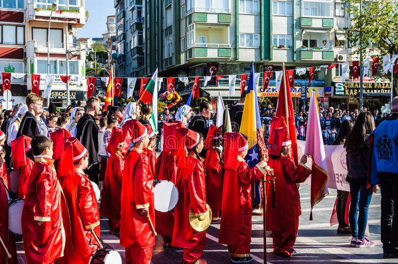 Celebración del día del ` nacional s de la soberanía y de los niños - Turquía imagen de archivo libre de regalías
