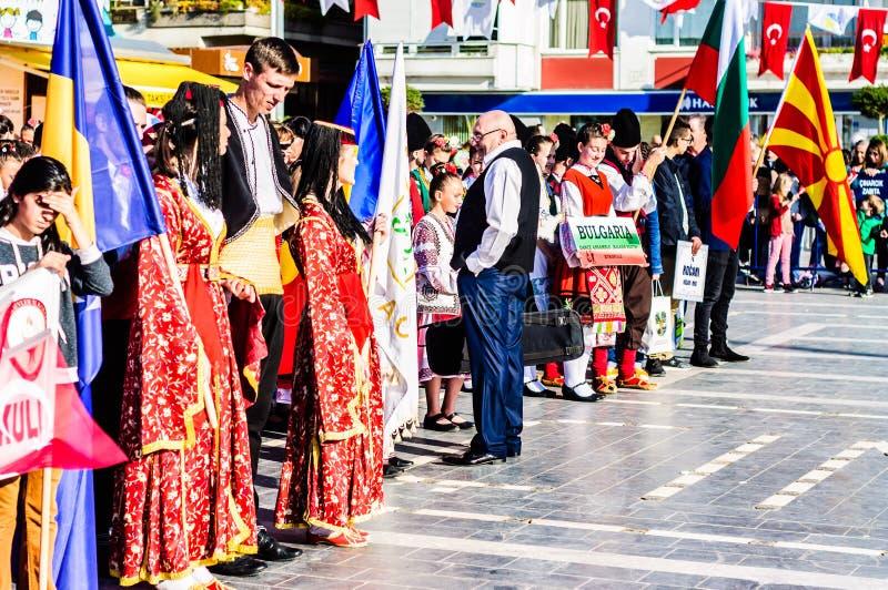 Celebración del día del ` nacional s de la soberanía y de los niños - Turquía imágenes de archivo libres de regalías