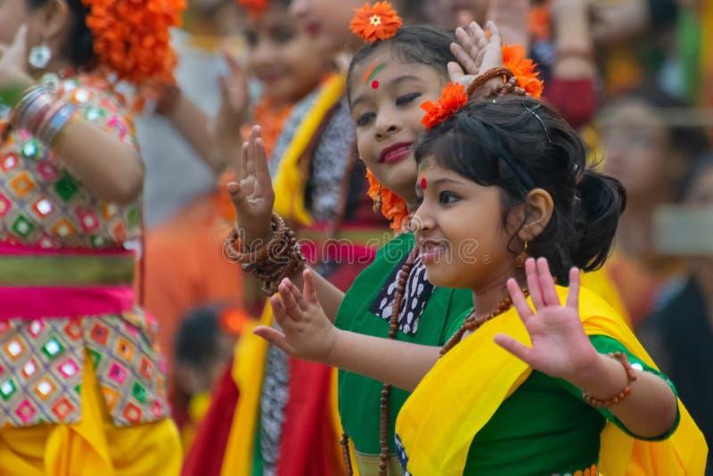 Celebración del festival de Holi en la India foto de archivo