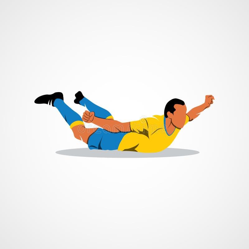 Celebración del jugador de fútbol stock de ilustración