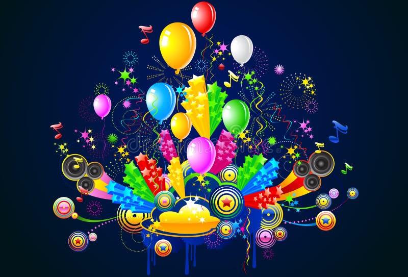 Celebración e ilustración del partido fotos de archivo libres de regalías
