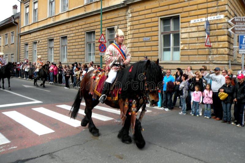 Celebración en la ciudad de Brasov en el tiempo 5 de pascua foto de archivo libre de regalías
