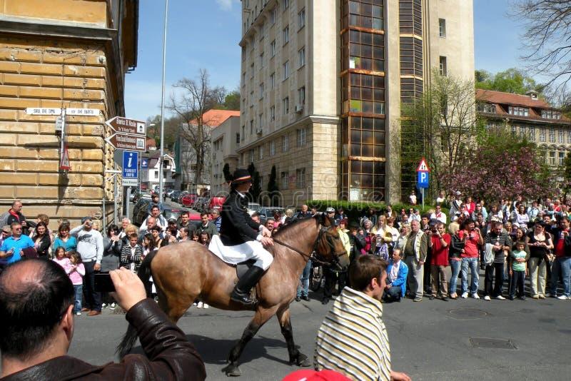 Celebración en la ciudad de Brasov en el tiempo 6 de pascua fotografía de archivo libre de regalías