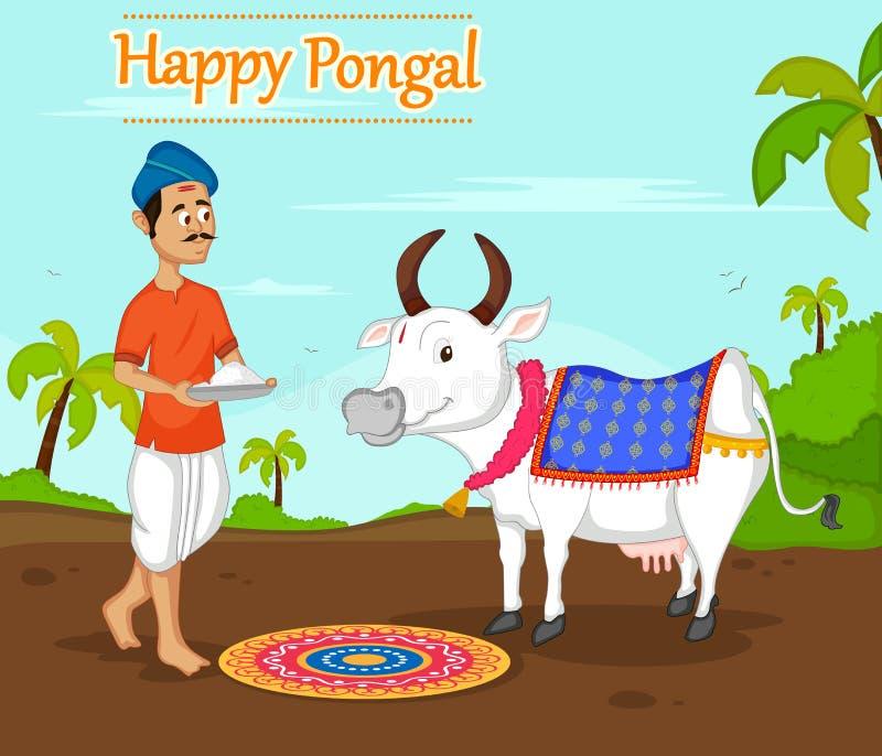 Celebración feliz de Pongal stock de ilustración