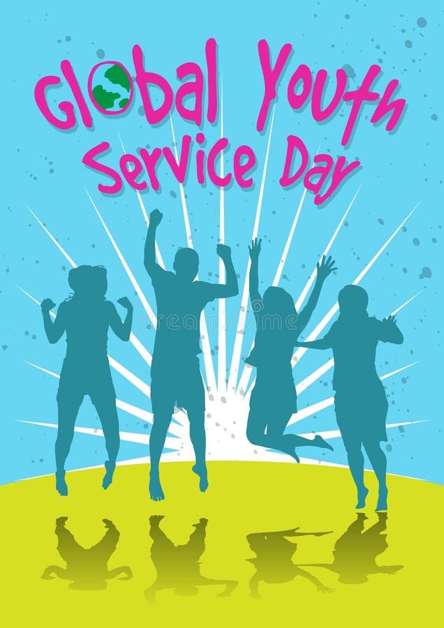 Celebración global del día del servicio de la juventud libre illustration
