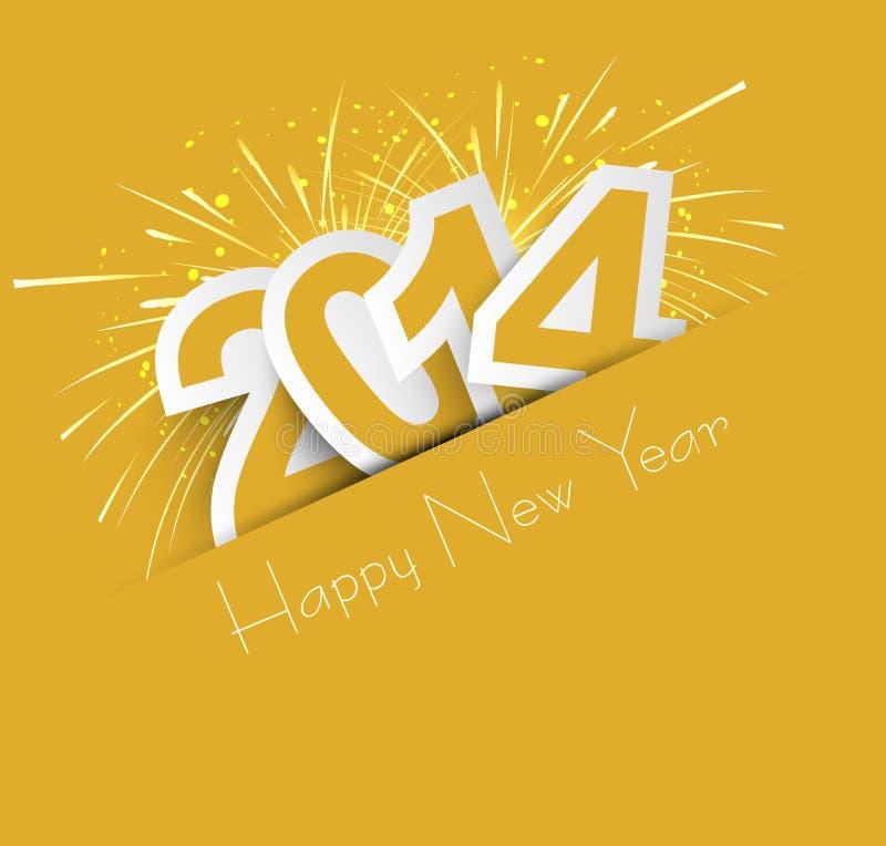 Celebración para el ejemplo colorido del diseño del Año Nuevo 2014 stock de ilustración