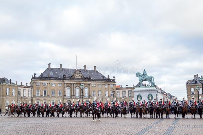 Celebración real del Año Nuevo en Copenhague, Dinamarca imagen de archivo libre de regalías