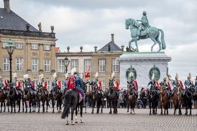 Celebración real del Año Nuevo en Copenhague, Dinamarca imagenes de archivo