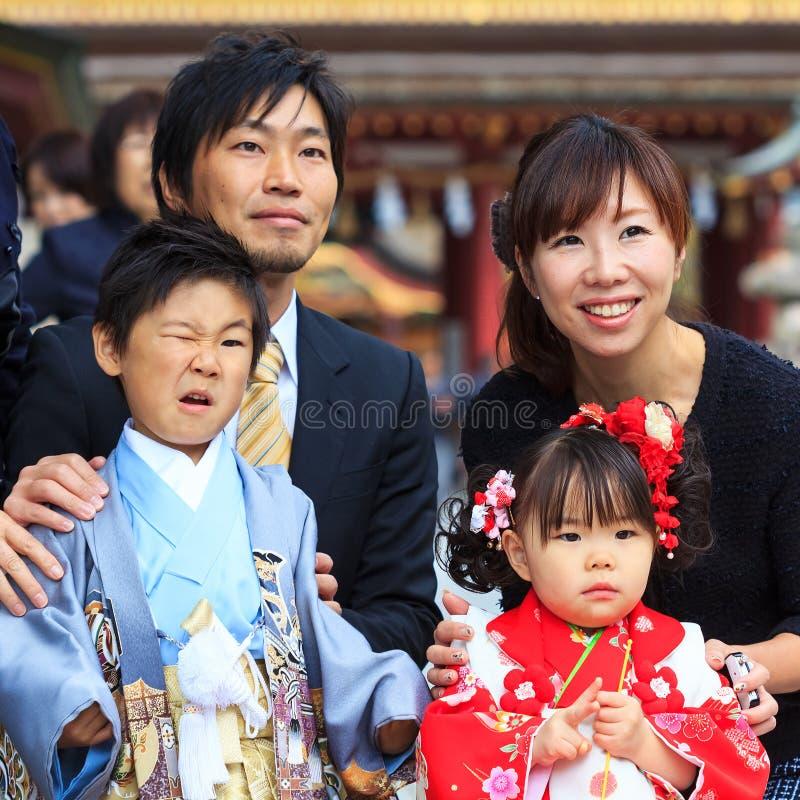 celebración Shichi-ir-san en Dazaifu Tenmangu foto de archivo libre de regalías