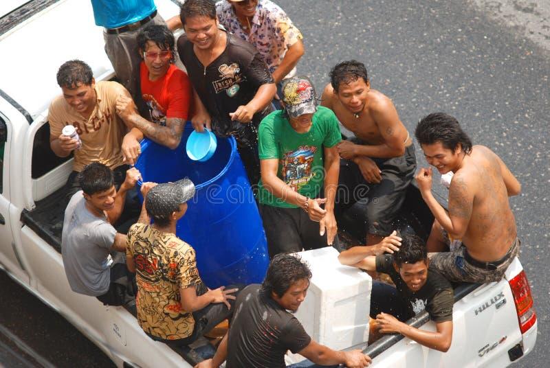 Celebración tailandesa del Año Nuevo imágenes de archivo libres de regalías