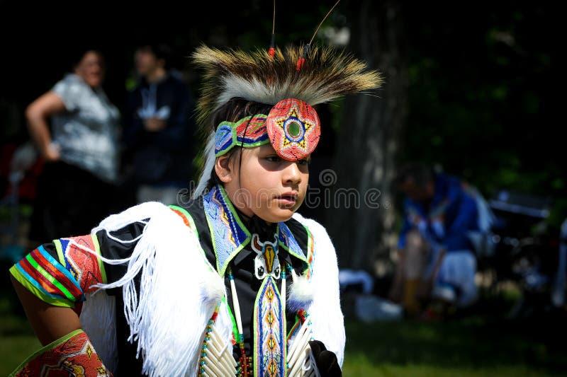 Celebración viva del día aborigen en Winnipeg fotografía de archivo