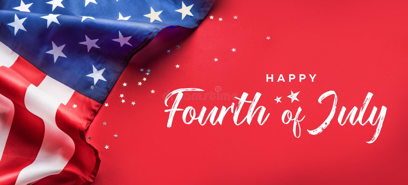 Celebraci?n de D?a de la Independencia Fondo de la bandera de los Estados Unidos de Am?rica los E.E.U.U. para el 4 de julio fotografía de archivo