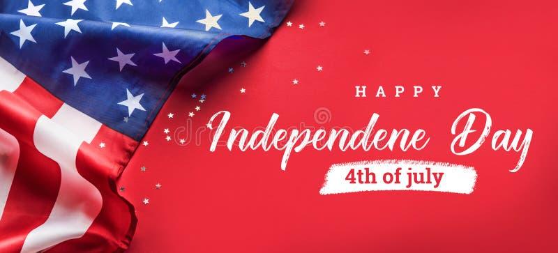 Celebraci?n de D?a de la Independencia Fondo de la bandera de los Estados Unidos de Am?rica los E.E.U.U. para el 4 de julio fotografía de archivo libre de regalías