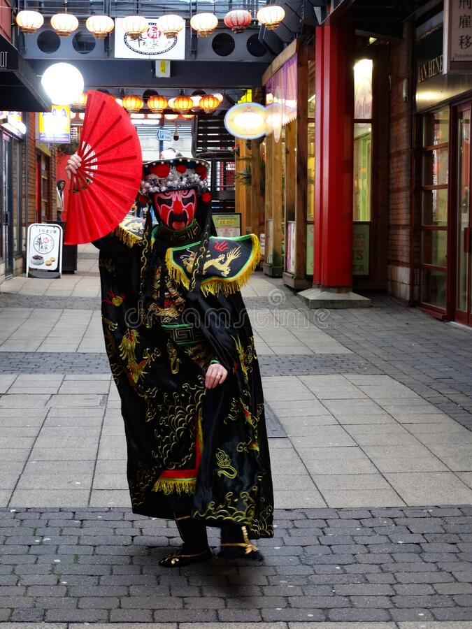 Celebraciones chinas de Año Nuevo 2020 Birmingham Reino Unido foto de archivo libre de regalías