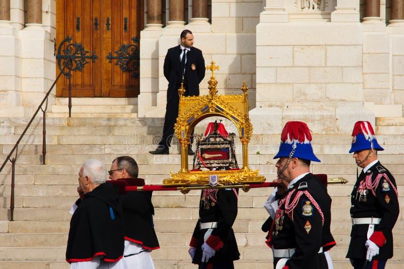 """Celebraciones de Devota del santo en el †""""2015 de Mónaco foto de archivo"""
