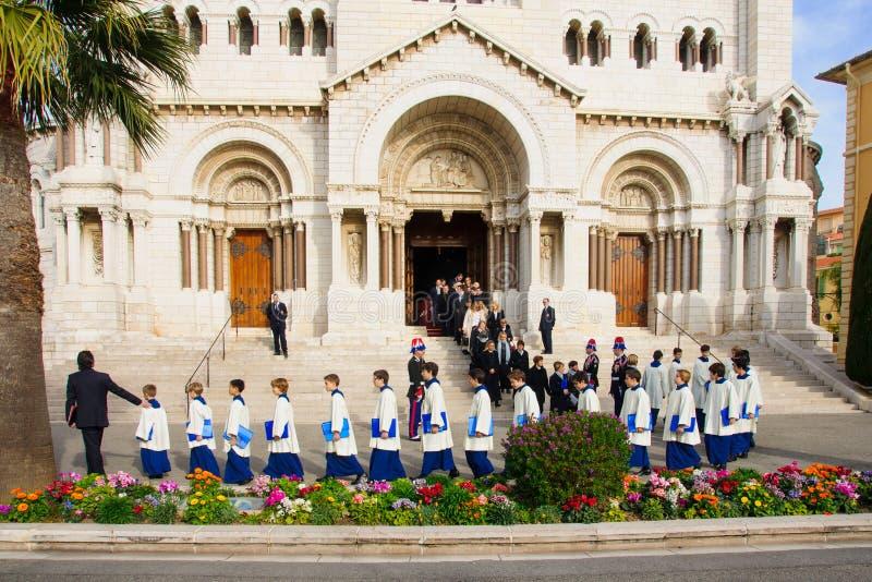 """Celebraciones de Devota del santo en el †""""2015 de Mónaco fotografía de archivo libre de regalías"""