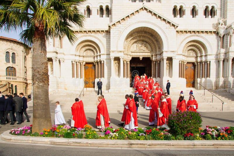 """Celebraciones de Devota del santo en el †""""2015 de Mónaco fotos de archivo libres de regalías"""