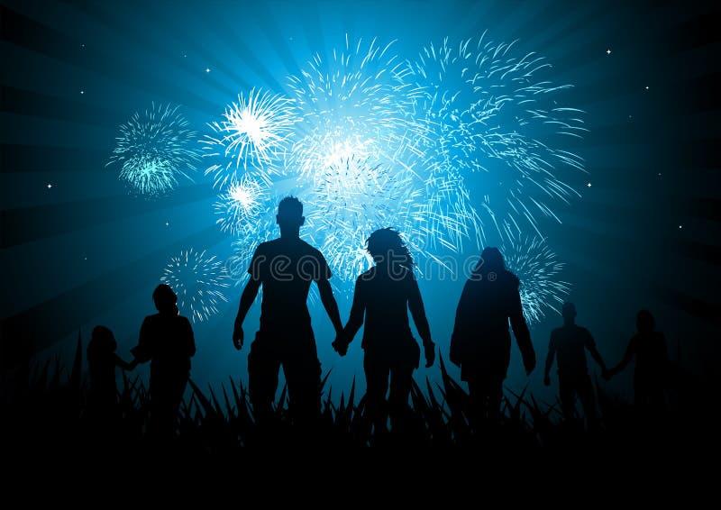 Celebraciones de familia felices libre illustration