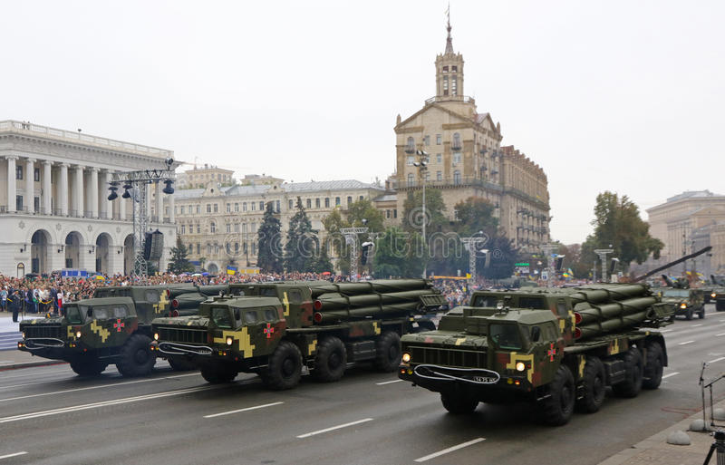 Celebraciones del Día de la Independencia en Kyiv, Ucrania fotos de archivo