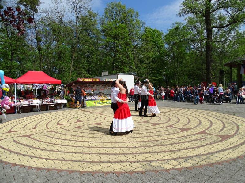 Celebraciones del Día del Mayo fotografía de archivo