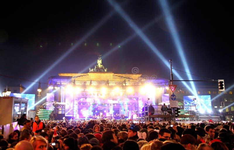 Celebraciones del A?o Nuevo en Berl?n, Alemania fotos de archivo