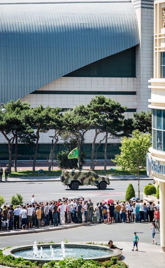 Celebraciones militares del día en Azerbaijan fotografía de archivo