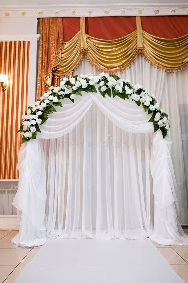 Celebraciones, pasillo wedding imagen de archivo libre de regalías