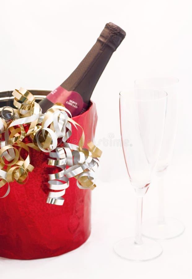 Celebrando con Champagne fotografia stock libera da diritti