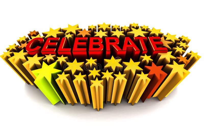 Celebrate stock illustration