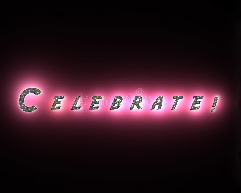 Download Celebrate stock illustration. Illustration of word, illustrations - 615245
