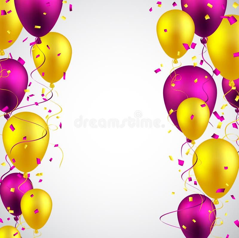 Celebrate background with balloons. Celebration background with colorful balloons and confetti. Vector illustration vector illustration
