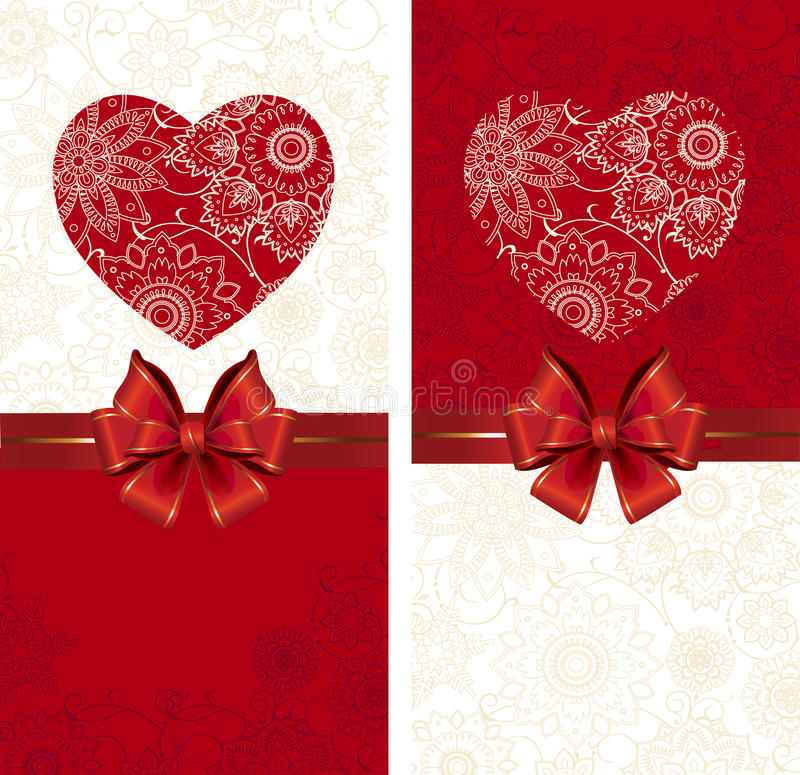 Download Celebrate Bow Background With Heart. Stock Vector - Image: 17897482
