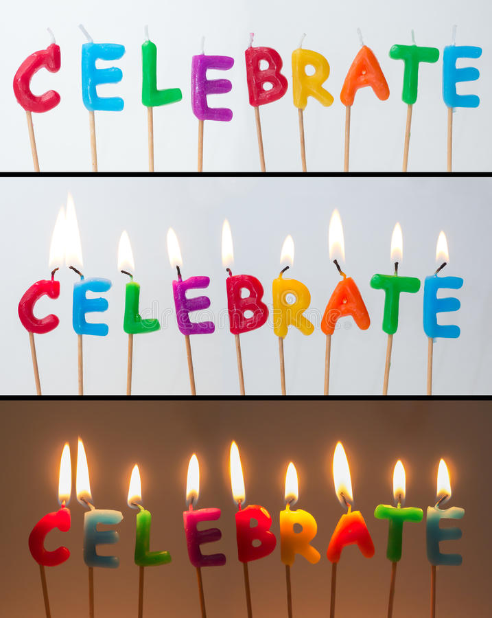 Download Celebrate Candles stock image. Image of word, burn, anniversary - 36596395