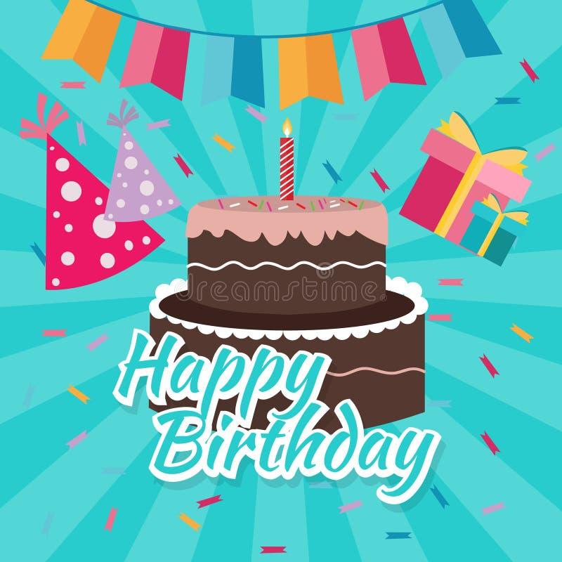 Celebrate happy birthday cake flat illustration vector greetings download celebrate happy birthday cake flat illustration vector greetings colorful icon bright color stock vector m4hsunfo