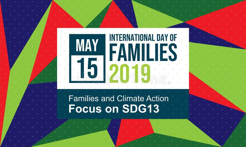 Celebrate International Day of Families - Vector royalty free illustration