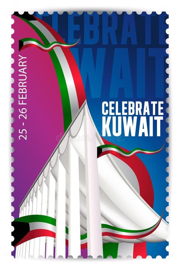 Celebrate Kuwait - Nationalversammlung vektor abbildung