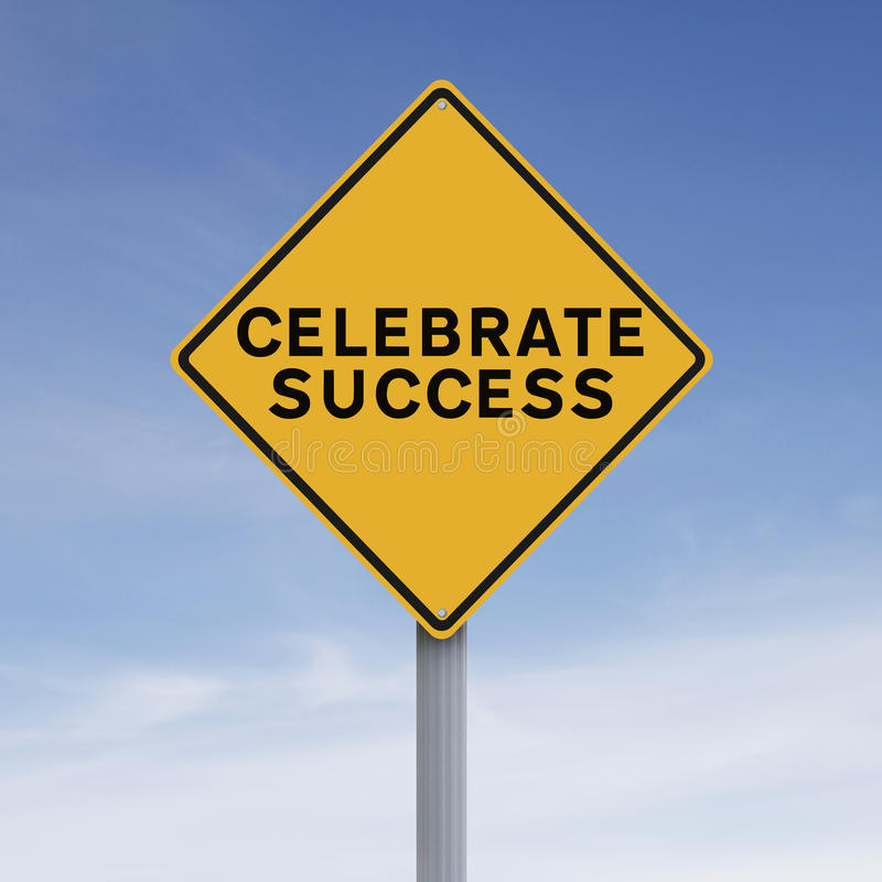 Celebrate Success royalty free stock photo