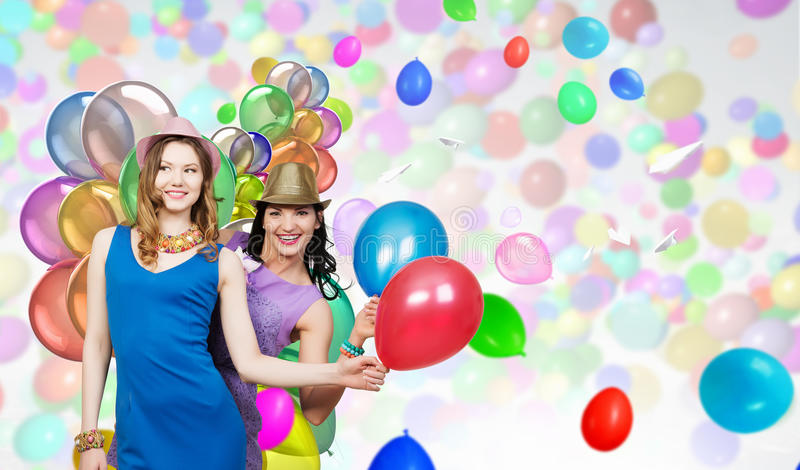 Celebrate their success or anniversary . Mixed media royalty free stock images