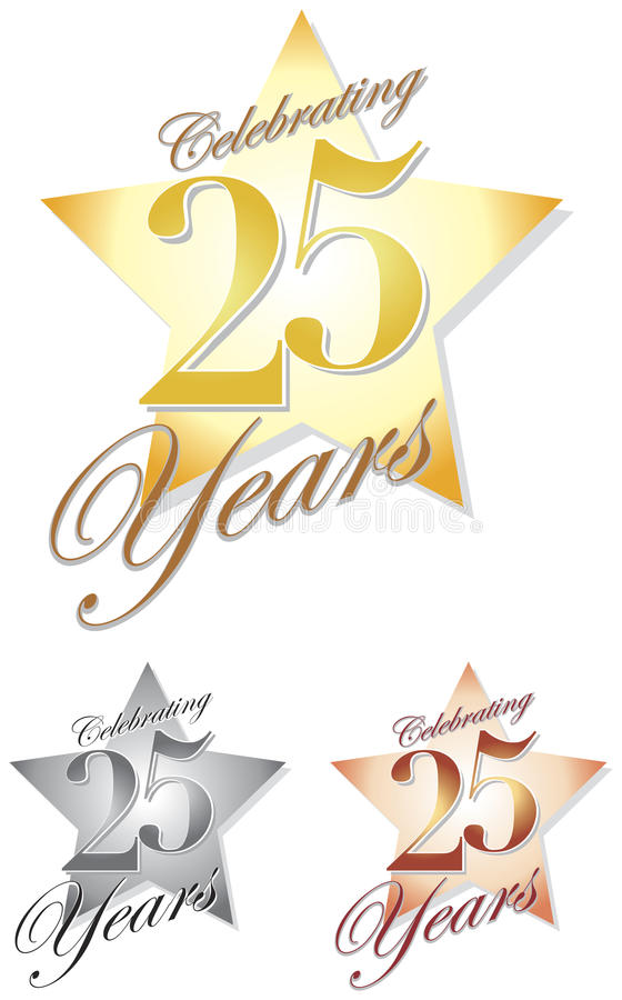 Free Celebrating 25 Years/eps Royalty Free Stock Image - 32610956