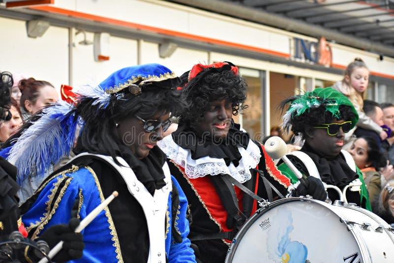 Celebrating the arrival of Dutch Saint Nicholas. stock photos