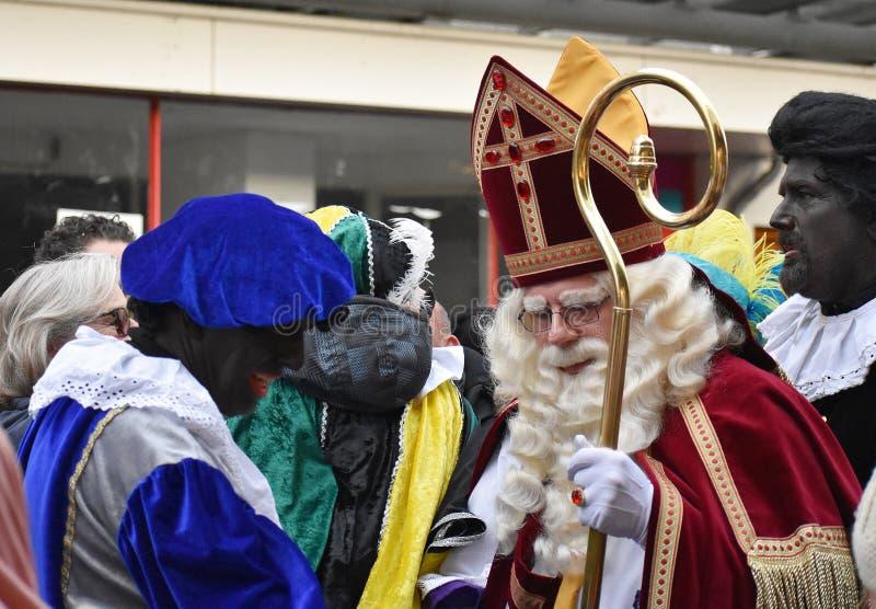 Celebrating the arrival of Dutch Saint Nicholas. royalty free stock photography