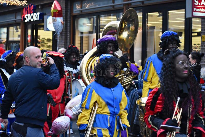 Celebrating the arrival of Dutch Saint Nicholas. stock images
