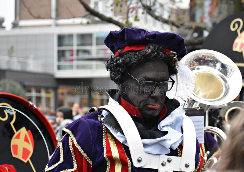 Celebrating the arrival of Dutch Saint Nicholas. royalty free stock images