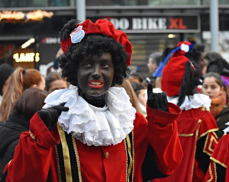Celebrating the arrival of Dutch Saint Nicholas. stock photography