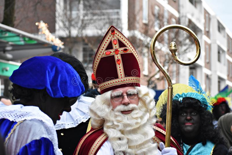 Celebrating the arrival of Dutch Saint Nicholas. stock image