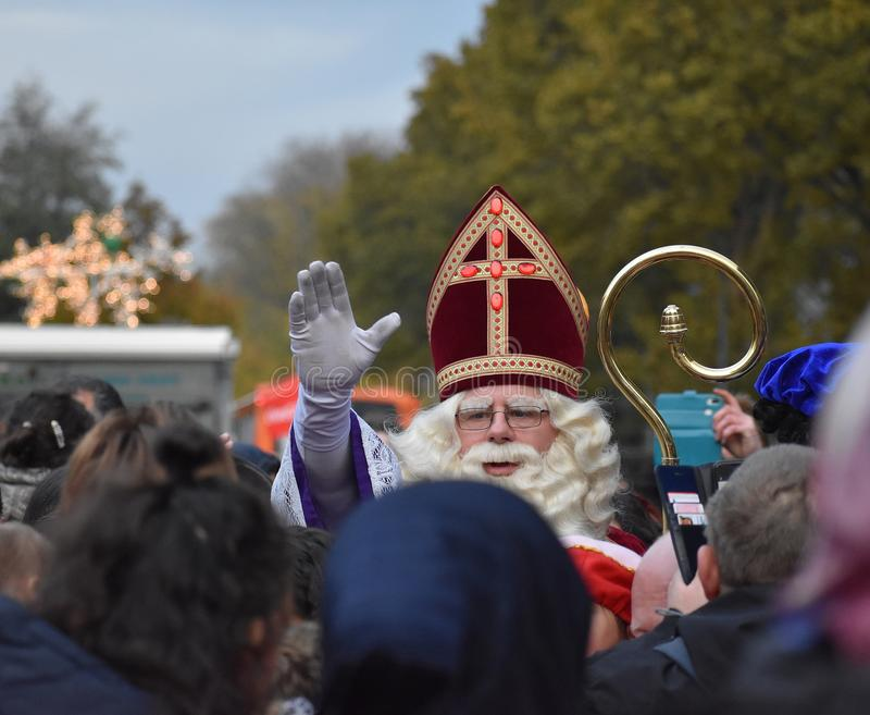 Celebrating the arrival of Dutch Saint Nicholas. royalty free stock photo