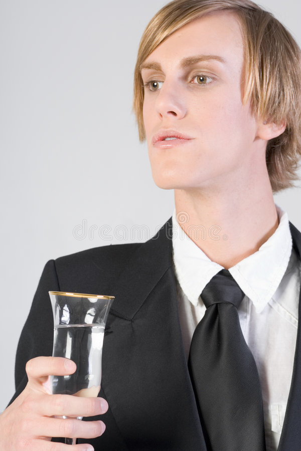 Celebrating - bartender royalty free stock images