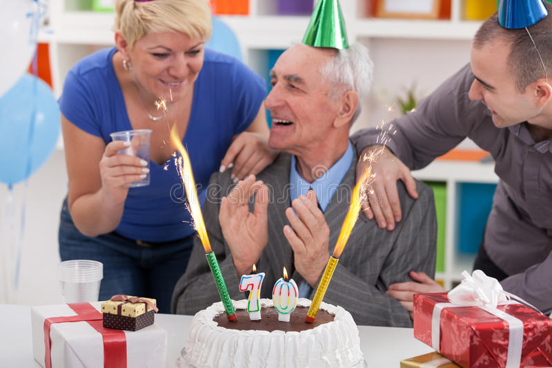 Celebrating birthday together royalty free stock photography