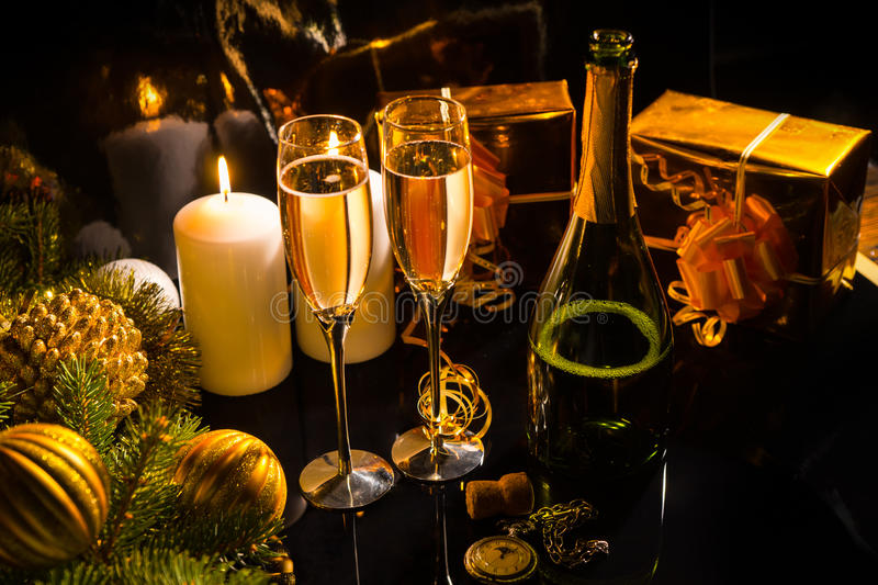 Celebrating Christmas Eve stock photo