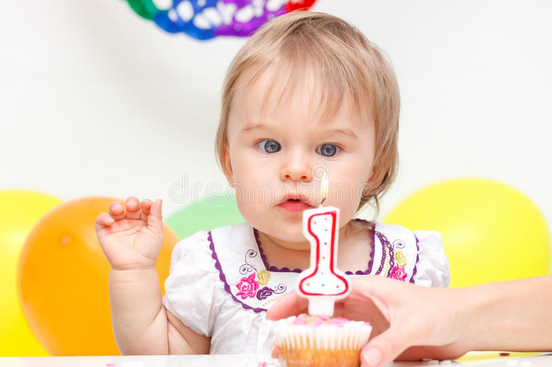 Download Celebrating first birthday stock photo. Image of cute - 19902826